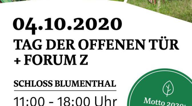 Tag der offenen Tür in Schloss Blumenthal & Forum Z